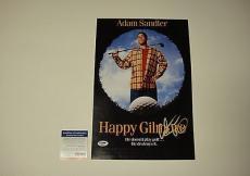 Adam Sandler Signed Happy Gilmore Photo Movie Poster Psa/dna Coa #p64068