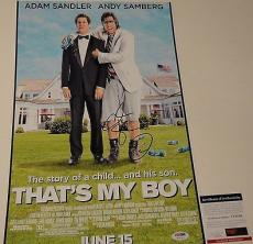 Adam Sandler Signed 'that's My Boy' 12x18 Movie Poster Photo Psa/dna Coa V73739