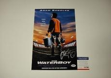 Adam Sandler Signed The Waterboy Photo Movie Poster Psa/dna Coa #p64070