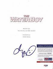 "Adam Sandler ""the Waterboy"" Signed Autographed Movie Script Psa/dna Coa #z88797"