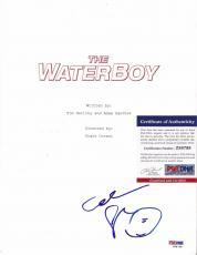 "Adam Sandler ""the Waterboy"" Signed Autographed Movie Script Psa/dna Coa #z88798"