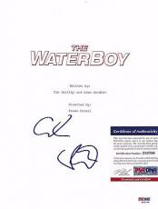 "Adam Sandler ""the Waterboy"" Signed Autographed Movie Script Psa/dna Coa #z88799"