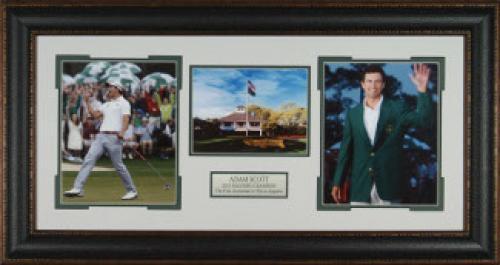 Adam Scott 2013 Augusta Masters Champion PGA Golf 3-Photo Premium Leather Framing (22x35)