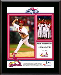 "Adam Wainwright St. Louis Cardinals 2013 National League Champions Sublimated 10.5"" x 13"" Plaque"