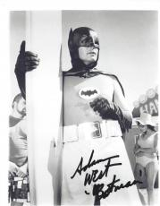 "ADAM WEST as BATMAN in 1966 TV SERIES ""BATMAN"" Signed 8x10 B/W Photo"