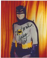 "ADAM WEST as BATMAN in 1966 TV Series ""BATMAN"" Signed 8x10 Color Photo"