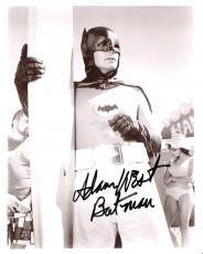 "ADAM WEST as BATMAN in TV 1966 TV Series ""BATMAN"" Signed 8x10 B/W Photo"