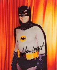 "ADAM WEST as BATMAN in TV 1966 TV Series ""BATMAN"" Signed 8x10 Color Photo"