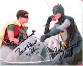 "ADAM WEST as BATMANand BURT WARD as ROBIN in ""BATMAN"" Signed 10x8 Color Photo"