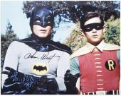 "Adam West Autographed 16"" x 20"" with Robin Photograph"