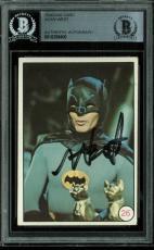 Adam West Batman Signed 1966 National Periodical Publications #26 Card BAS Slab