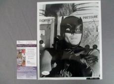 Adam West Batman Signed Vintage 8x10 Original 1960 Photo Batman Television JSA 1