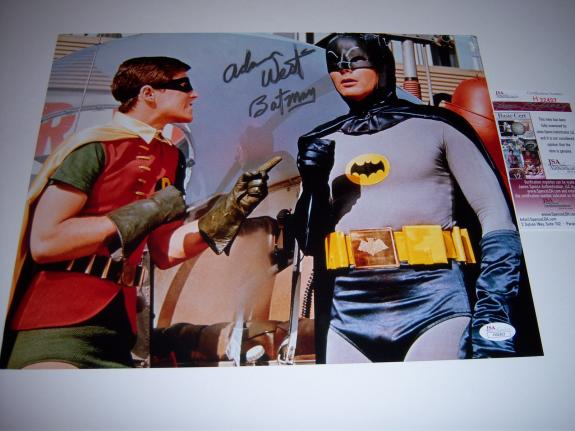 Adam West Batman,actor Deceased Jsa/coa Signed 11x14 Photo
