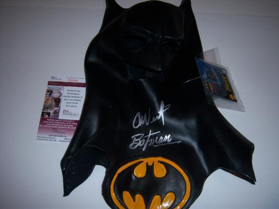 Adam West Batman,actor Deceased Jsa/coa Signed Batman Mask
