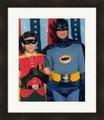 Adam West & Burt Ward 8x10 photo (Batman & Robin) Matted & Framed