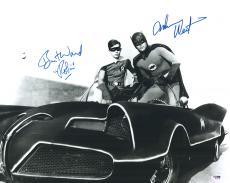 "Adam West & Burt Ward Autographed 16"" x 20"" Batman Photograph with Robin Inscription - PSA/DNA"