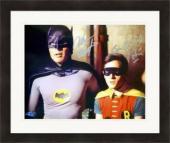 Adam West & Burt Ward autographed 8x10 photo (Batman and Robin) Matted & Framed