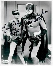 Adam West Burt Ward Dual Autographed Signed 8X10 Photo Batman B& W w / Robin JSA
