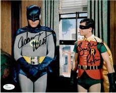 Adam West Burt Ward Dual Autographed Signed 8X10 Photo Batman Robin JSA S37708