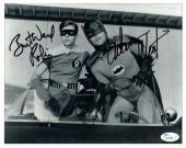 Adam West Burt Ward Dual Autographed Signed 8X10 Photo Batman Robin Leaning JSA