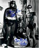 Adam West Burt Ward Dual Autographed Signed 8X10 Photo Batman w/ Statue JSA COA