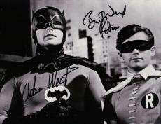 Adam West Burt Ward Dual Signed Autographed 8X10 Photo Batman Cityscape JSA COA
