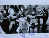 Adam West Burt Ward Dual Signed Batman And Robin 16x20 Rogues Gallery Photo BAS
