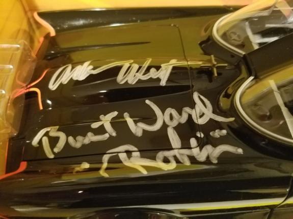 Adam West & Burt Ward Signed 1966 Batmobile Batman & Robin Diecast 1:18