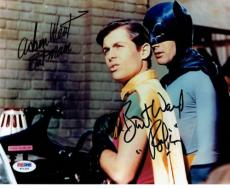 Adam West & Burt Ward Signed Batman & Robin Authentic 8x10 Photo PSA/DNA