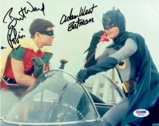 Adam West & Burt Ward Signed Batman & Robin Authentic 8x10 Photo PSA/DNA #W71320