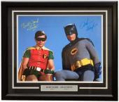 Adam West Burt Ward Signed Framed 16x20 Batman & Robin Photo BAS I54365