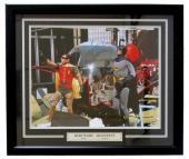 Adam West Burt Ward Signed Framed Batman & Robin 16x20 Batcopter Photo Insc BAS