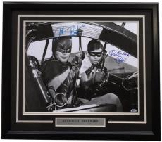 Adam West Burt Ward Signed Framed 16x20 Batman & Robin Photo BAS I54275