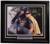 Adam West Burt Ward Signed Framed 16x20 Batman & Robin Photo PSA 6A72490
