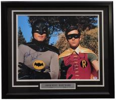 Adam West Burt Ward Signed Framed 16x20 Batman & Robin Photo PSA 6A72447
