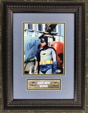 ADAM WEST d.2017 (Batman) custom framed display- Beckett's COA