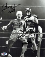 Adam West & Frank Gorshin Signed Batman Riddler 8x10 Photo PSA/DNA #D41439