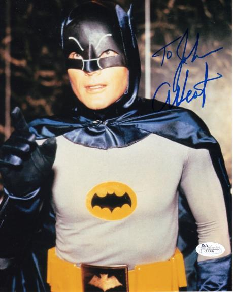 ADAM WEST HAND SIGNED 8x10 COLOR PHOTO   AWESOME     BATMAN     TO JOHN      JSA