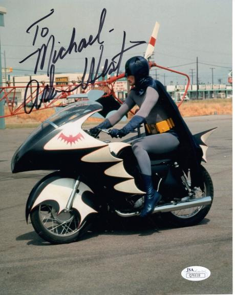 ADAM WEST HAND SIGNED 8x10 COLOR PHOTO   AWESOME    BATMAN    TO MICHAEL     JSA