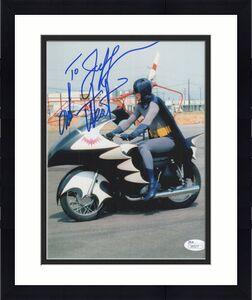 ADAM WEST HAND SIGNED 8x10 COLOR PHOTO    BATMAN ON BATCYCLE     TO JEFF     JSA