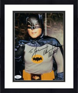 ADAM WEST HAND SIGNED 8x10 COLOR PHOTO     GREAT POSE AS BATMAN    TO JOE    JSA