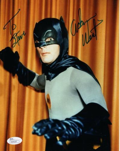 ADAM WEST HAND SIGNED 8x10 COLOR PHOTO     GREAT POSE BATMAN     TO STEVE    JSA