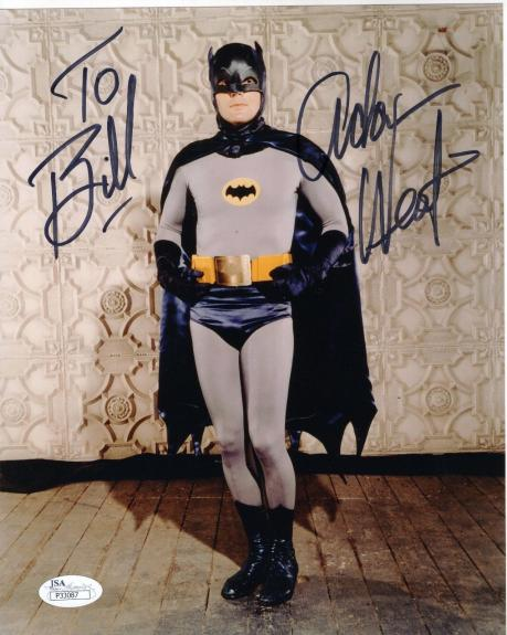 ADAM WEST HAND SIGNED 8x10 PHOTO     AWESOME POSE AS BATMAN      TO BILL     JSA