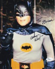 ADAM WEST HAND SIGNED 8x10 PHOTO     AWESOME POSE AS BATMAN     TO BRIAN     JSA