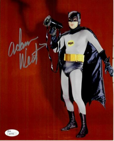 Adam West Hand Signed Autographed 8X10 Photo Batman Megaphone JSA S37703