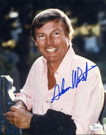 Adam West Jsa Hand Signed 8x10 Photo Autograph