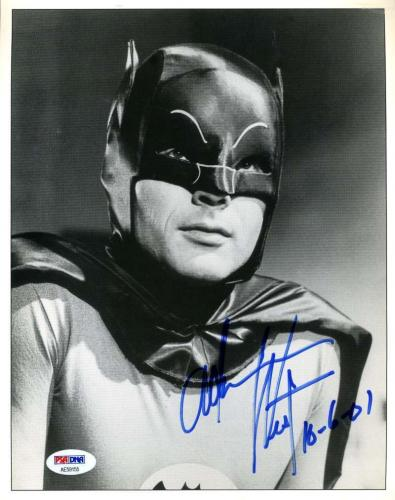 ADAM WEST PSA DNA Coa Autograph Batman 8x10 Photo Hand Signed Authentic