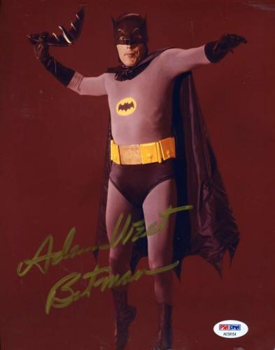 ADAM WEST PSA DNAAutograph Batman 8x10 Photo Hand Signed