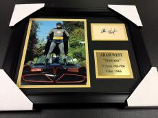 Adam West Signature Reprint 1966 Batman Framed 8x10 Photo