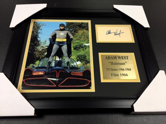 Adam West Signature Reprint 1966 Batman Framed 8x10 Photo